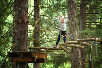 Girl at Camp - Gaston, OR - Tree to Tree Adventure Park