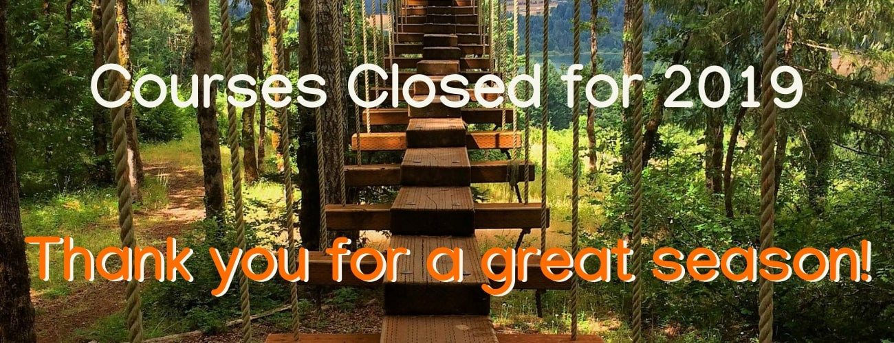 Courses closed for the season - Tree to Tree Adventure Park.
