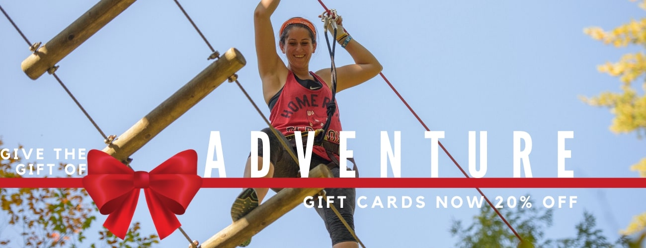 Black Friday - Gift Cards now 20% off - Tree to Tree Adventure Park.